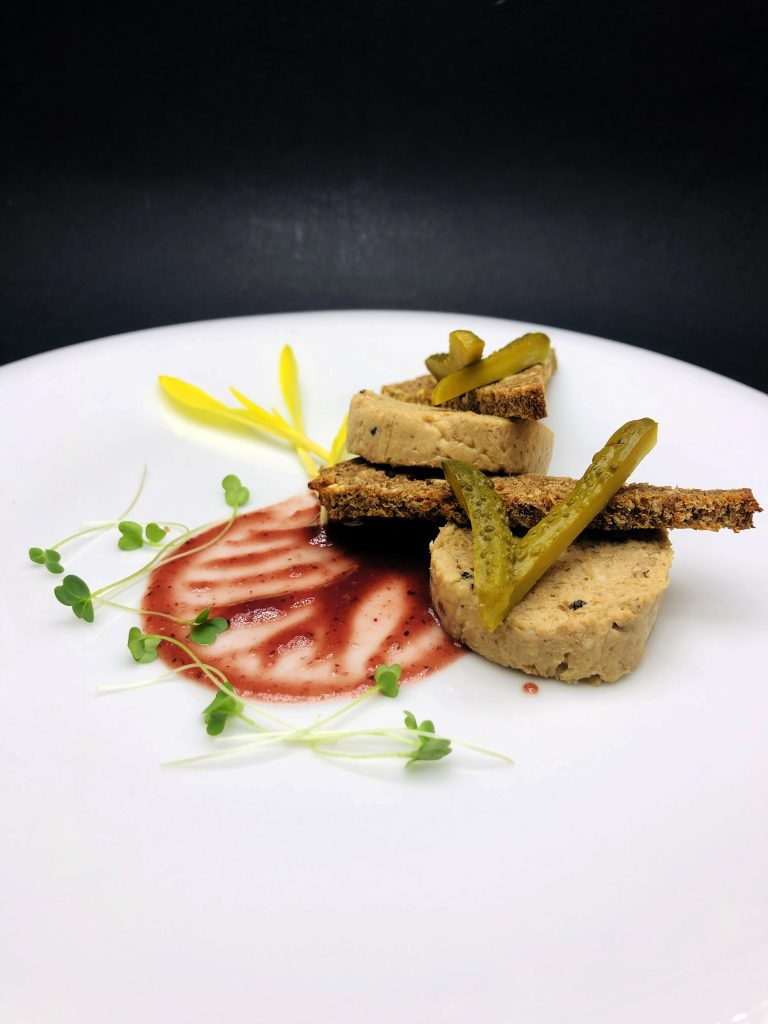 3. Duck rillette with crispy nut bread and Cumberland sauce