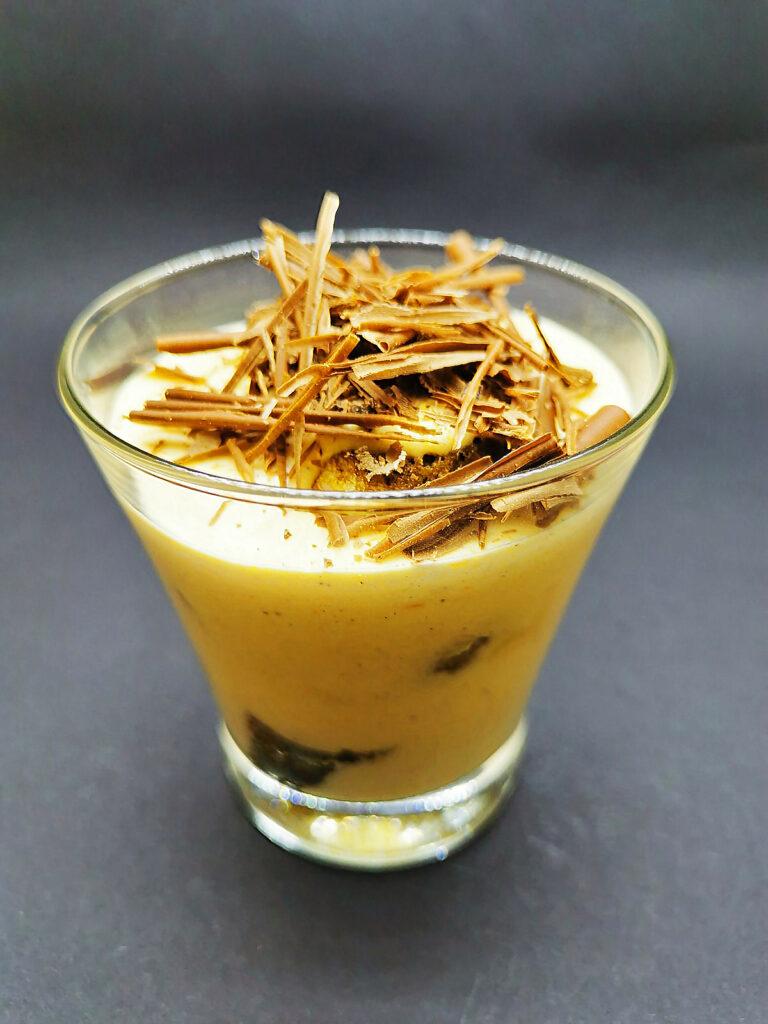 5. Tiramisu with sweet potato and black Bacardi.